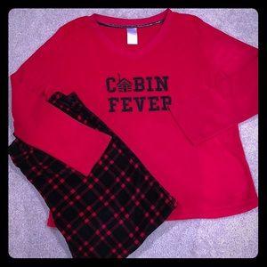 Womens plus size pajama set